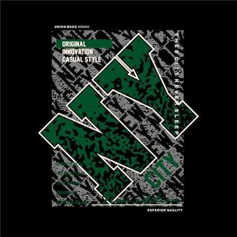 뉴욕시 추상 그래픽 티셔츠 디자인 타이포그래피 벡터 일러스트 캐주얼 스타일