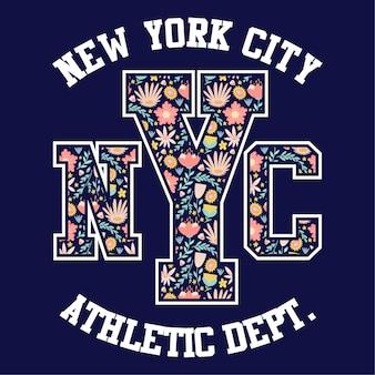 New york city athletic varsity college badge