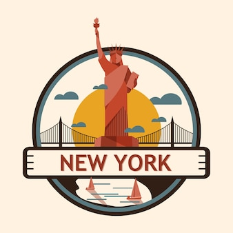 New york city badge, united state of america