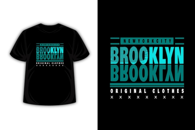 New york city brooklyn typography t shirt design