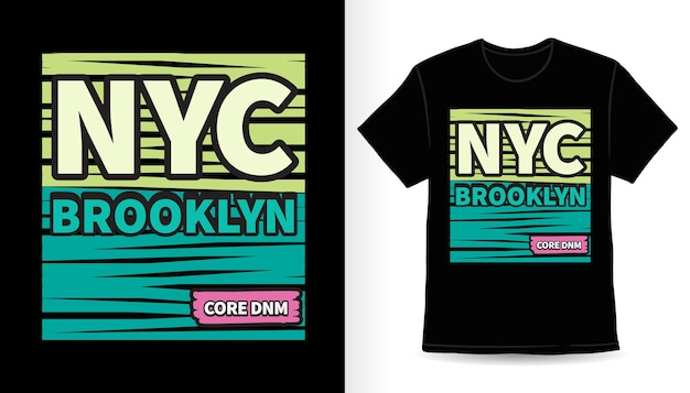 Нью-йорк бруклин типография футболка с принтом