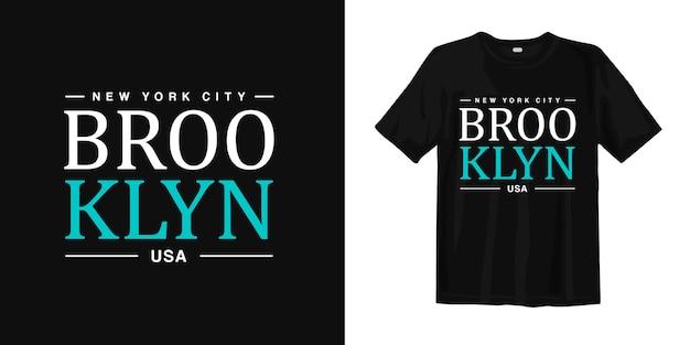 ニューヨーク、ブルックリンusa tシャツデザインタイポグラフィアーバンスタイルウェア