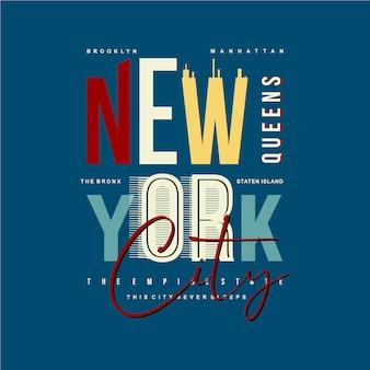 Нью йорк классный дизайн типографская иллюстрация