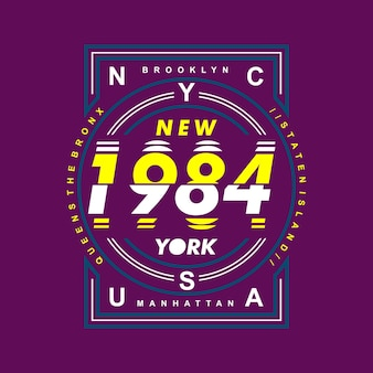 New york city design graphic