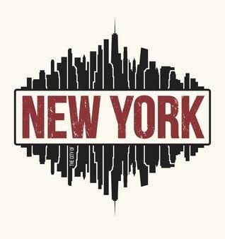 New york city graphic, t-shirt design, tee print, typography, emblem. vector illustration.
