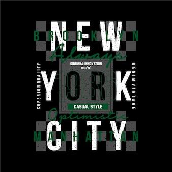 멋진 캐주얼 남성 스타일에 대한 뉴욕시 그래픽 티셔츠 벡터 일러스트 레이 션