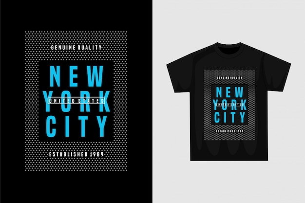 ニューヨークシティ-グラフィックtシャツ
