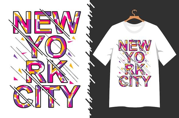 티셔츠 디자인을 위한 뉴욕시 레터링
