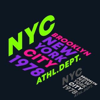 New york city, lettering