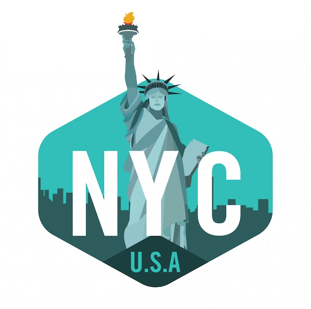 New york city logo with statue of liberty