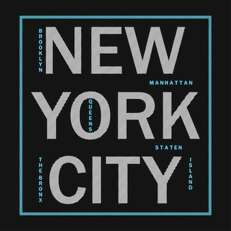 New york city  modern typography for design clothes athletic tshirt graphics for print product