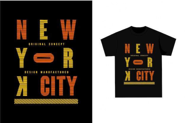 Оригинальная концепция нью-йорка - графическая футболка для печати