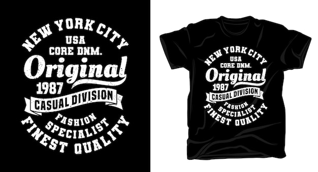 New york city original typography design t-shirt