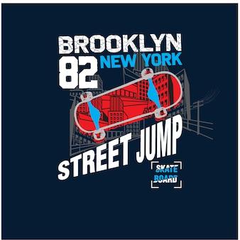 New york city skaters vector illustration
