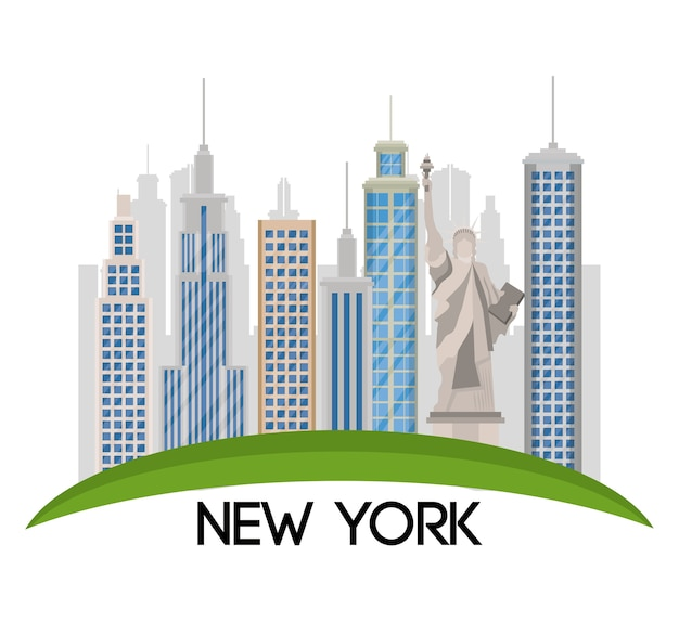 New york city statue of liberty scene