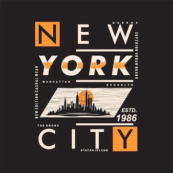 뉴욕시 우수한 문화 그래픽 타이포그래피 벡터 t 셔츠 디자인 일러스트 레이션