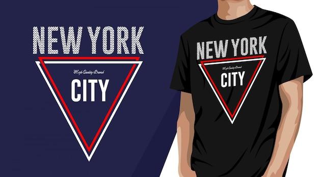Нью-йорк - дизайн футболки