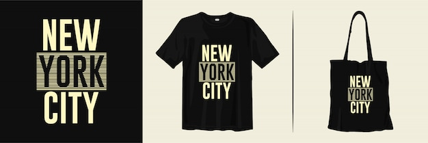New york city t-shirt and tote bag design for merchandise