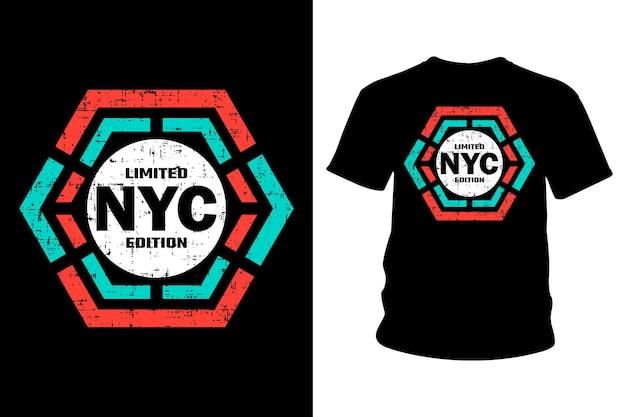 Дизайн типографии футболки с текстом нью-йорка