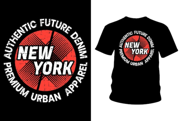 New york city text t shirt typography