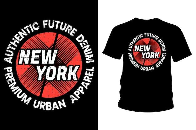 ニューヨーク市のテキストtシャツのタイポグラフィ