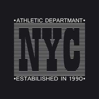 New york city typography graphics. print for t-shirt, design of clothes. vector illustration.