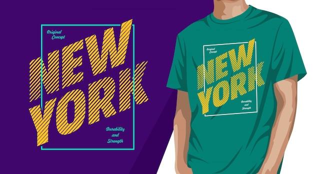 Дизайн футболки типографики нью-йорк для печати