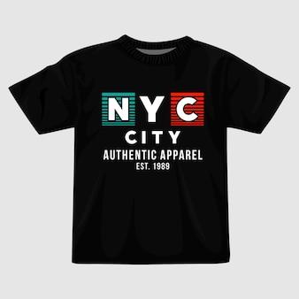뉴욕시 타이포그래피 티셔츠 디자인