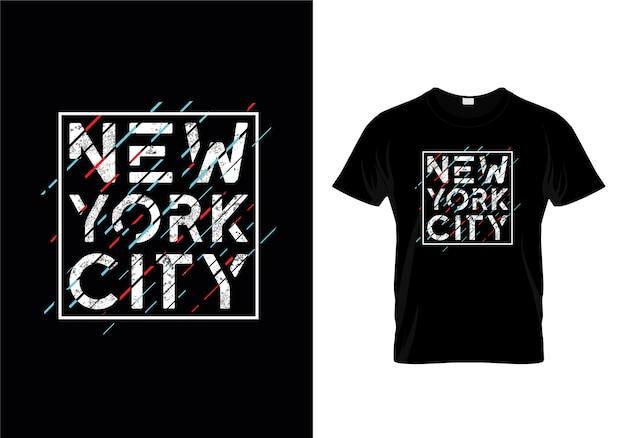 ニューヨーク市のタイポグラフィーtシャツデザイン