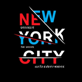 ニューヨーク市のタイポグラフィtシャツベクトル