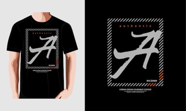 뉴욕시 타이포그래피 tshirt 디자인 프리미엄 벡터