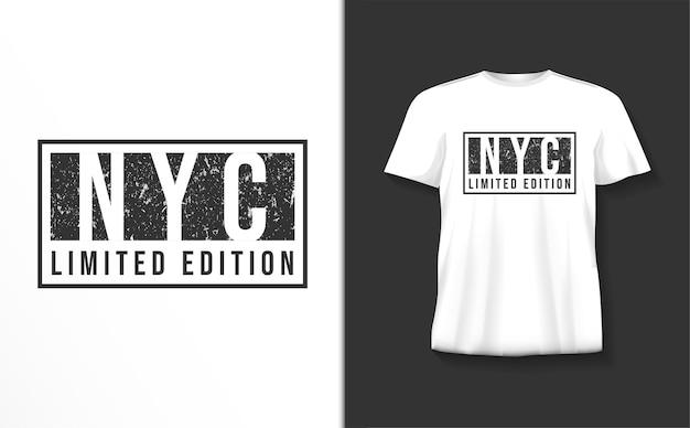 ニューヨーク市のタイポグラフィtシャツ