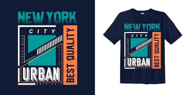 ニューヨーク市のプリントtシャツデザインの都市スタイル