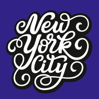 New york city with typography