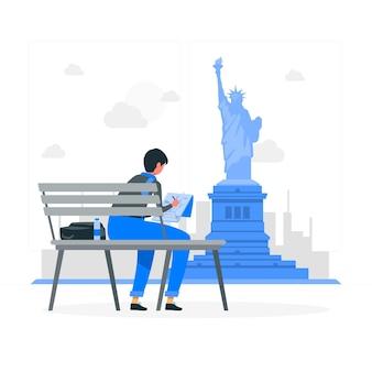 Illustrazione di concetto di new york