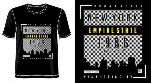 プリントtシャツのニューヨークデザイン