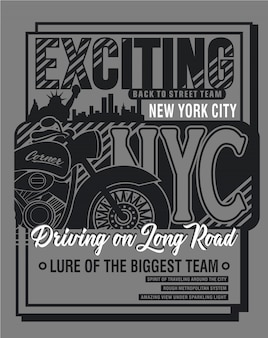 New york icon typography,vector graphic illustration art