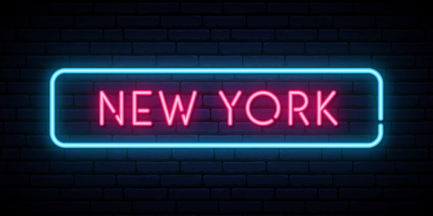 New york neon sign.