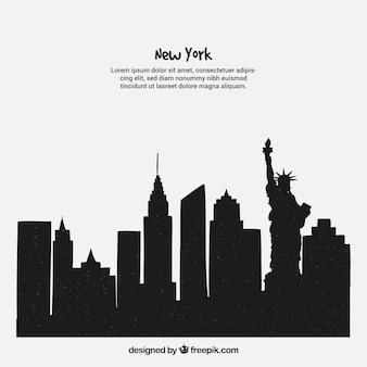 Concetto di skyline di new york