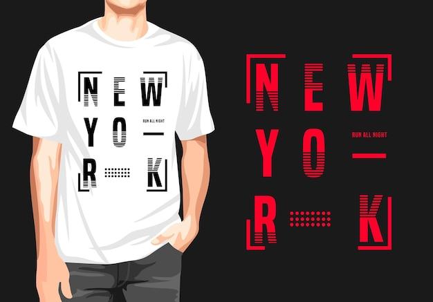 Дизайн футболки нью-йорк
