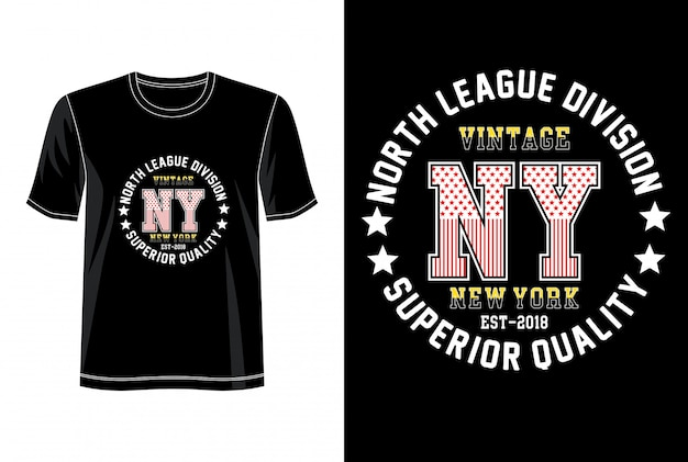 New york typography for print t shirt