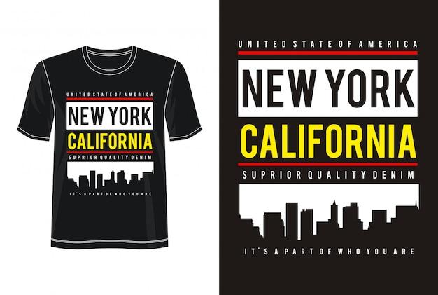 New york typography for printt shirt