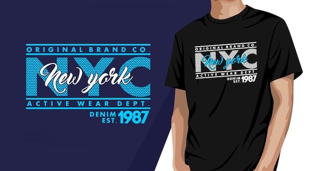 Нью-йорк - типография дизайн футболки