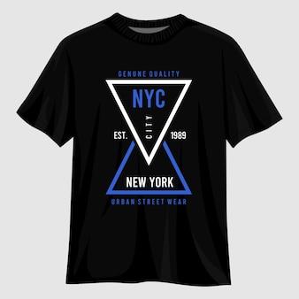 Дизайн футболки типографии нью-йорк