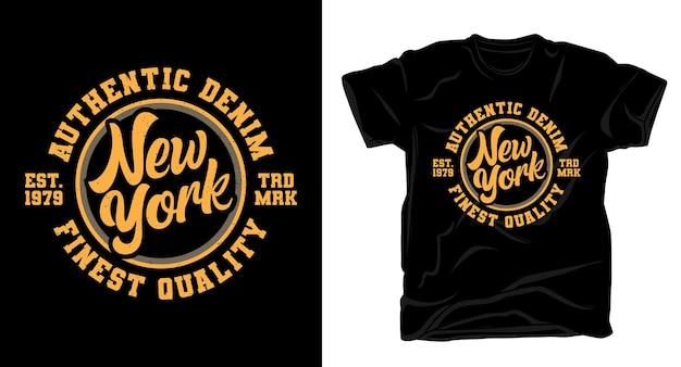 ニューヨークのタイポグラフィtシャツのデザイン