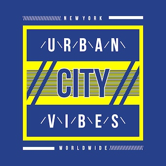 New york urban city typography t shirt design