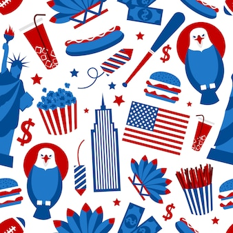New york usa seamless pattern
