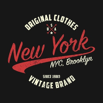 New york vintage brand graphic for tshirt original clothes design with grunge