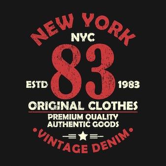 그런 지 번호 tshirt 원래 옷 디자인에 대 한 뉴욕 빈티지 그래픽