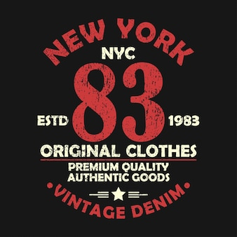 New york vintage graphic for number tshirt original clothes design with grunge